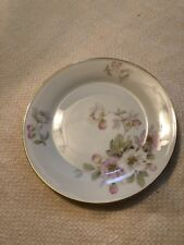 "TIRSCHENREUTH BAVARIA GERMANY APPLE BLOSSOM BREAD & BUTTER PLATE 6 "" DIA 6 AVAIL"