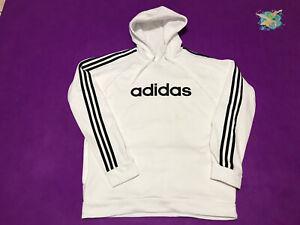 Adidas Hoodie Pullover White Sweatshirt Size L Mens