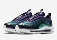 NIKE AIR MAX 97 SE GS - UK SIZE 3.5 - PURPLE/GREEN/BLACK 'IRIDESCENT' AV3181-500