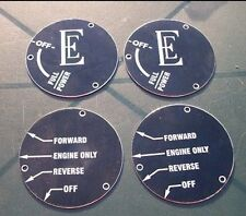 2427 - SET OF 4 POWER CONTROL LABELS FOR ENGLISH ELECTRIC Class 37