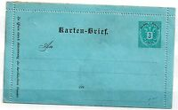 Austria 3KR unused letter card ZZ1589