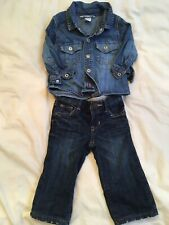 Baby Boy H&M Denim Shirt & Gap Jeans, 6-9 Months