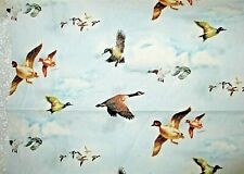 """Geese/duck fabric; 9 designs for your """"Quack"""" stash; one a possible pillow $6.50"""