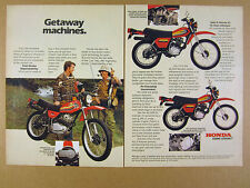 1979 Honda XL Series on-off Motorcycles 250S 185S 125S photos vintage print Ad