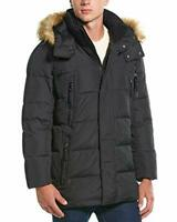 Marc New York by Andrew Marc Conway Hooded Matte Shell Parka Jacket (Black, L)