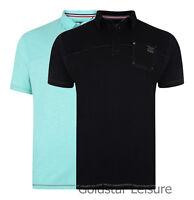 Mens Kam K 536 Melange Fashion Polo T-Shirt 2 Colours Lightweight Sizes M - 8XL