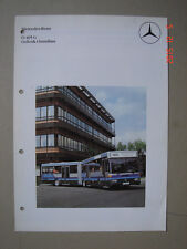 MERCEDES BENZ  O 405 G  Gelenk-Omnibus  brochure / Prospekt  1983/84.