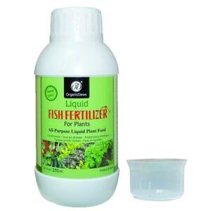 100% ORGANIC 250ml Liquid Fish Fertilizer PROMOTES SOIL MICRO ORGANISMS