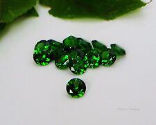 (4mm - 10mm) Round Emerald Green Cubic Zirconia (CZ) AAAAA Excellent Quality