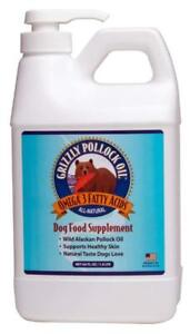 Grizzly Pollock Oil Supplement Supports Healthy Skin & Coat 64 oz