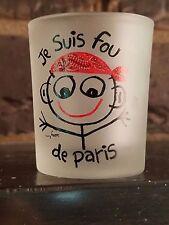 Shot glass Danny First Stickman Je Suis Fou De Paris I Am Crazy About Paris