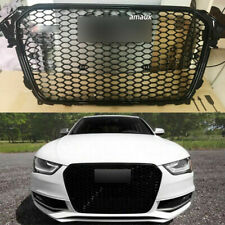 For RS4 Style Front Bumper Mesh Hood Grill For Audi A4/S4 B8.5 2013 2014 2015