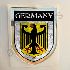 Germany Sticker Coat of Arms Resin Domed Stickers Flag Grunge 3D Adhesive Car