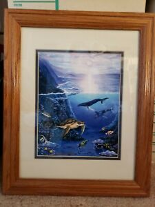 "Belinda Leigh ""Memories of Maui"" Custom Matted Framed Signed Print 10"" x 8"""