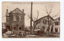 FLOOD DAMAGE, MAIN & WASHINGTON STREETS, DAYTON: Ohio USA postcard (C35075)
