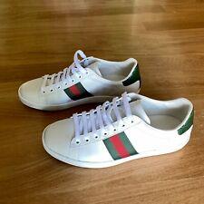 Original GUCCI NEW ACE Sneaker in Gr. 38, weiss mit Streifen grün rot