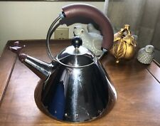 Alessi Michael Graves Teapot Induction stainless steel 20th Anniversary Purple