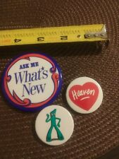 Vintage Gumby prema toy Cartoon Badge Button pin + lot ask me what's new heaven