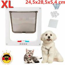 Katzenklappe Hundeklappe 4Wege Magnet-Verschluss für Katzen große Hunde Hundetür