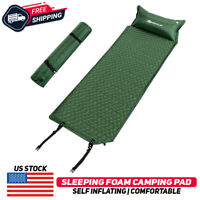 Inflatable Camping Sleeping Pad Hiking Air Mattress Outdoor Air Bed Pillow Mat