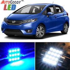 8 x Premium Blue LED Lights Interior Package Kit for Honda Fit 2009-2017 + Tool