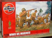 AIRFIX - WORLD WAR II US MARINES - PLASTIC MODEL FIGURE KIT - 1:72 - A01716