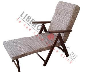 Poltrona MOLISANA reclinabile 4 posizioni con prolunga poggiapiedi
