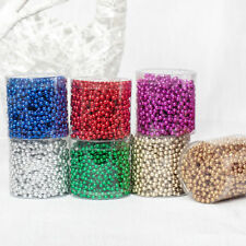 5M Round Bead Christmas Tree Tinsel String Chain Decoration Jewellery Craft Gift