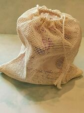 Reusable Mesh Produce Washable Fruit and Veg Bags Eco Grocery Shopping Storage