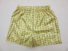 XL SIZE 02 YELLOW THAI ELEPHANT SHORTS WOMEN PANTS WEAR MEN BOXER THIN LADY FREE