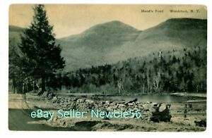 Woodstock NY - ROAD ALONG MEAD'S POND - Postcard Ulster County Catskills