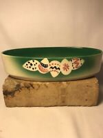 """Vintage Westwood Ware California Pottery 9"""" Oval Christmas Bowl"""