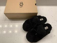 ugg addison velvet bow Black slipper Size 7