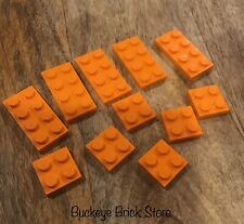LEGO Orange Plate  2x2 , 2x4  Mixed Lot