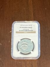 1997 W Eagle P$100 PF 70 Ultra Cameo NGC $2800