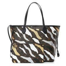 Louis Vuitton Camo Stripe LVxLOL Neverfull MM Tote Bag with Pouch 92lv69