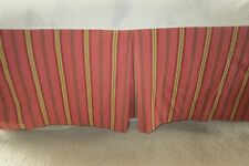 Lovely Country Curtains Bed Skirt Stripes Queen Dust Ruffle Heavy Salmon Cream