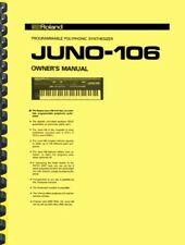 Roland Juno 106 OWNER'S MANUAL and SERVICE MANUAL