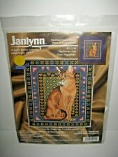 Janlynn Abyssinian Cat Counted Cross Stitch Kit New Unopened 1999 #120-14