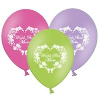 "Mothers Day Worlds Best Mum 12"" Printed Latex Balloons Pack of 20 Assorted"