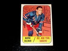 1967-68 TOPPS VINTAGE HOCKEY CARD# 22 WAYNE HILLMAN (RANGERS) EXMT