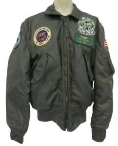 RARE VTG 1970s USAF US Air Force Navy Jacket size M Patches Vietnam Korea Grunt
