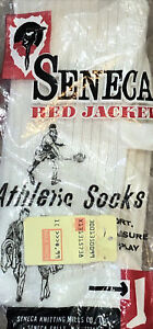 New Vintage Seneca Red Jacket Socks is Pair