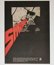 1969 Original Cuba Political Poster.Cold War Graphic art.Israel Syria conflict