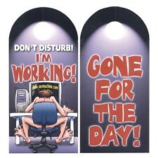Don't Disturb I'm Working Door Knob Hanger Funny Novelty Prank Joke Gag Gift