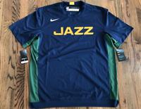 63 Nike Utah Jazz NBA Dri-Fit Shooting Shirt Team Issued Mens L-Tall AV0950-060