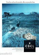 PUBLICITE ADVERTISING 125  1996  EBEL  montre  Sportwave chronographe