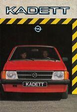 OPEL KADETT D GTE Luxus Berlina Caravan SR Prospekt Brochure 1983 10