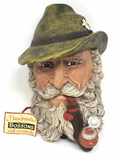 "VINTAGE BOSSONS/LEGENDS ""TYROLEAN"" HP CHALKWARE WALL ORNAMENT, IN BOX"
