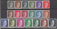 SALE - Germany Mi 781-98 Sc 506-23 1941 WW2 Reich Hitler Heads Set MH